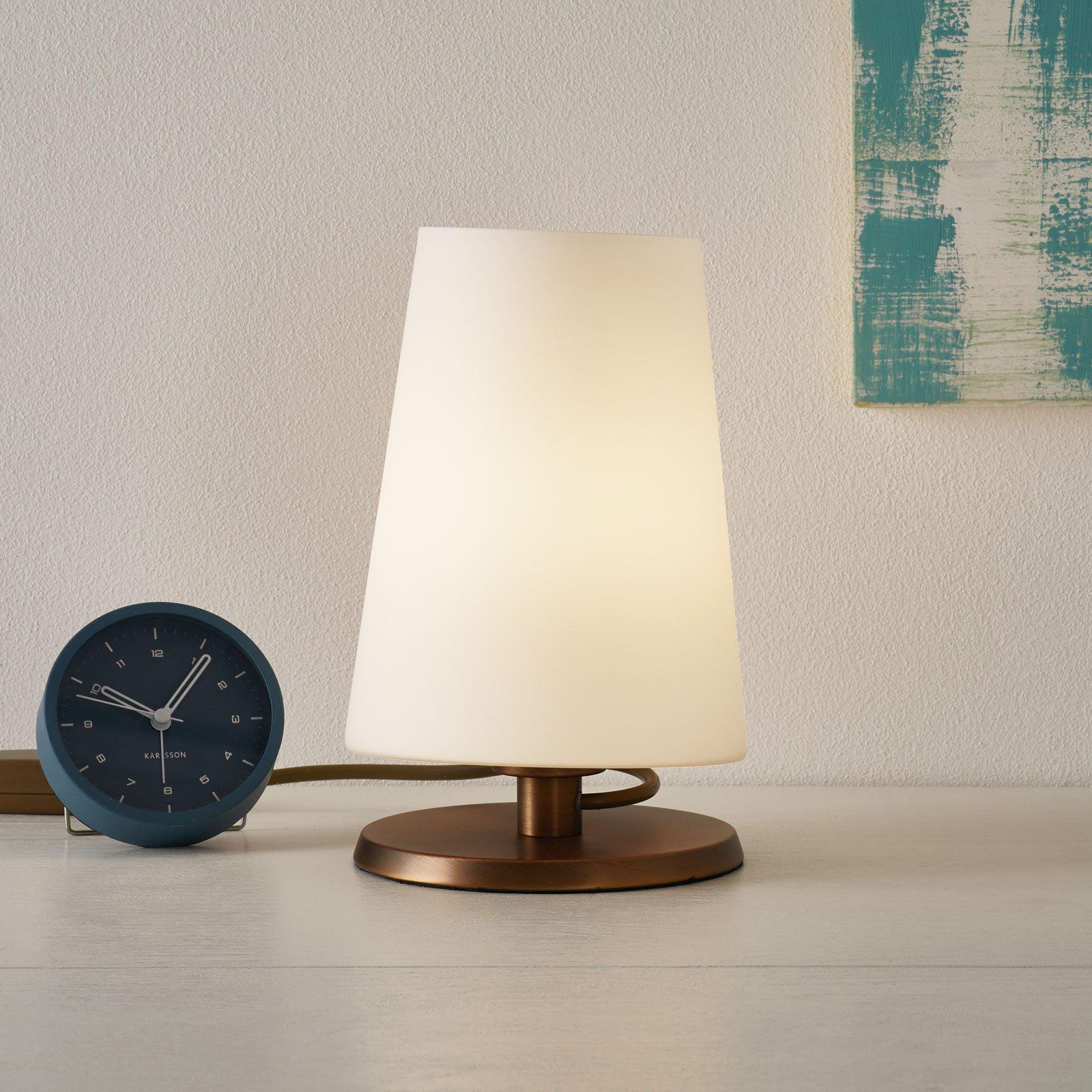 Ancilla - bordlampe med touchdimmer bronse