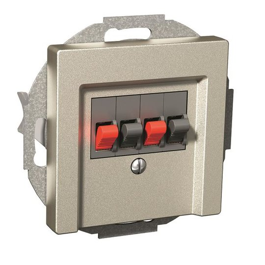 Schneider Electric WDE004915 Kaiutinpistorasia 76 x 62 x 76 mm Metallic