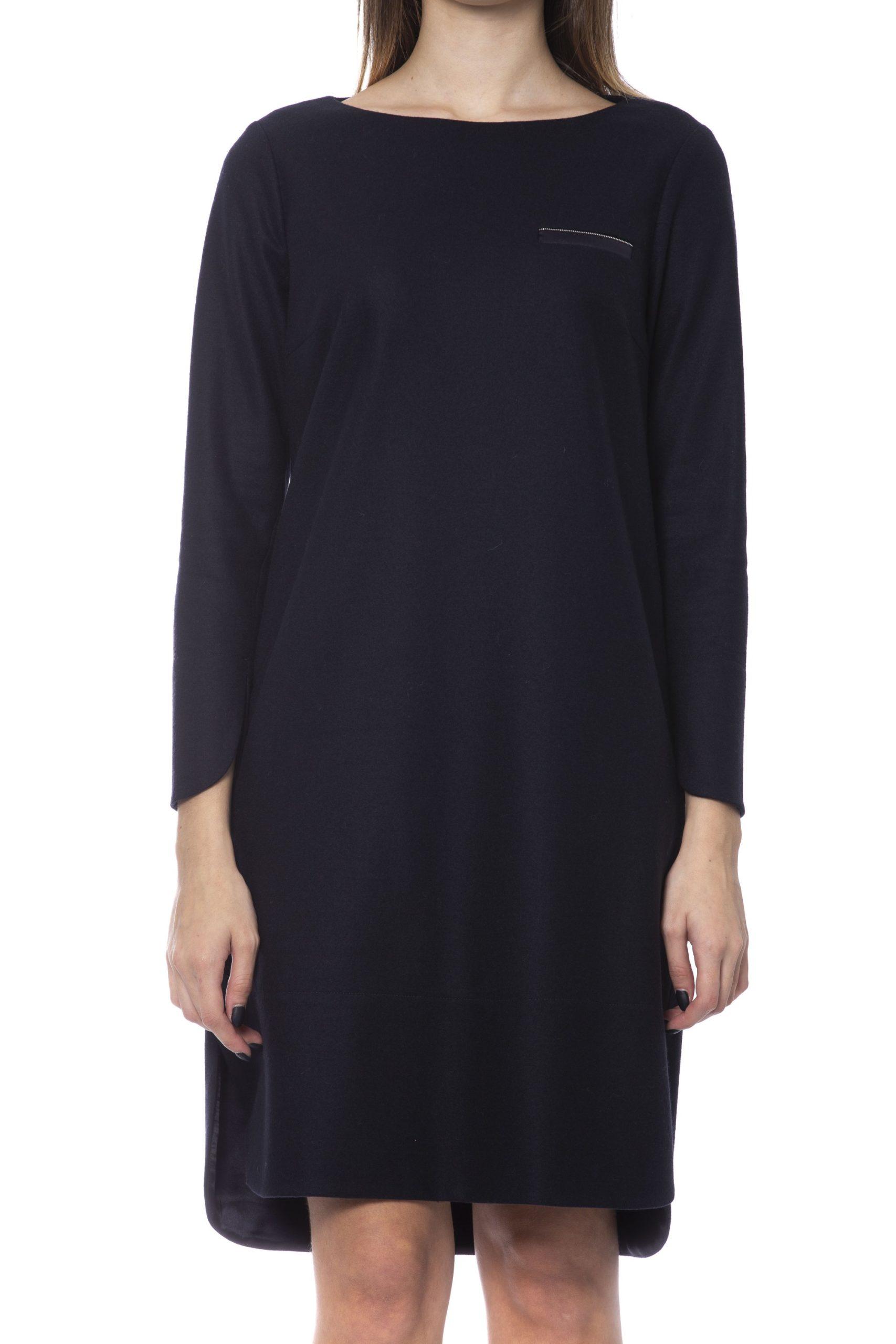 Peserico Women's Dress Black PE992222 - IT42 | S