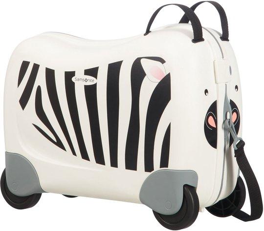 Samsonite Dreamrider Koffert Zebra Zero, Hvit