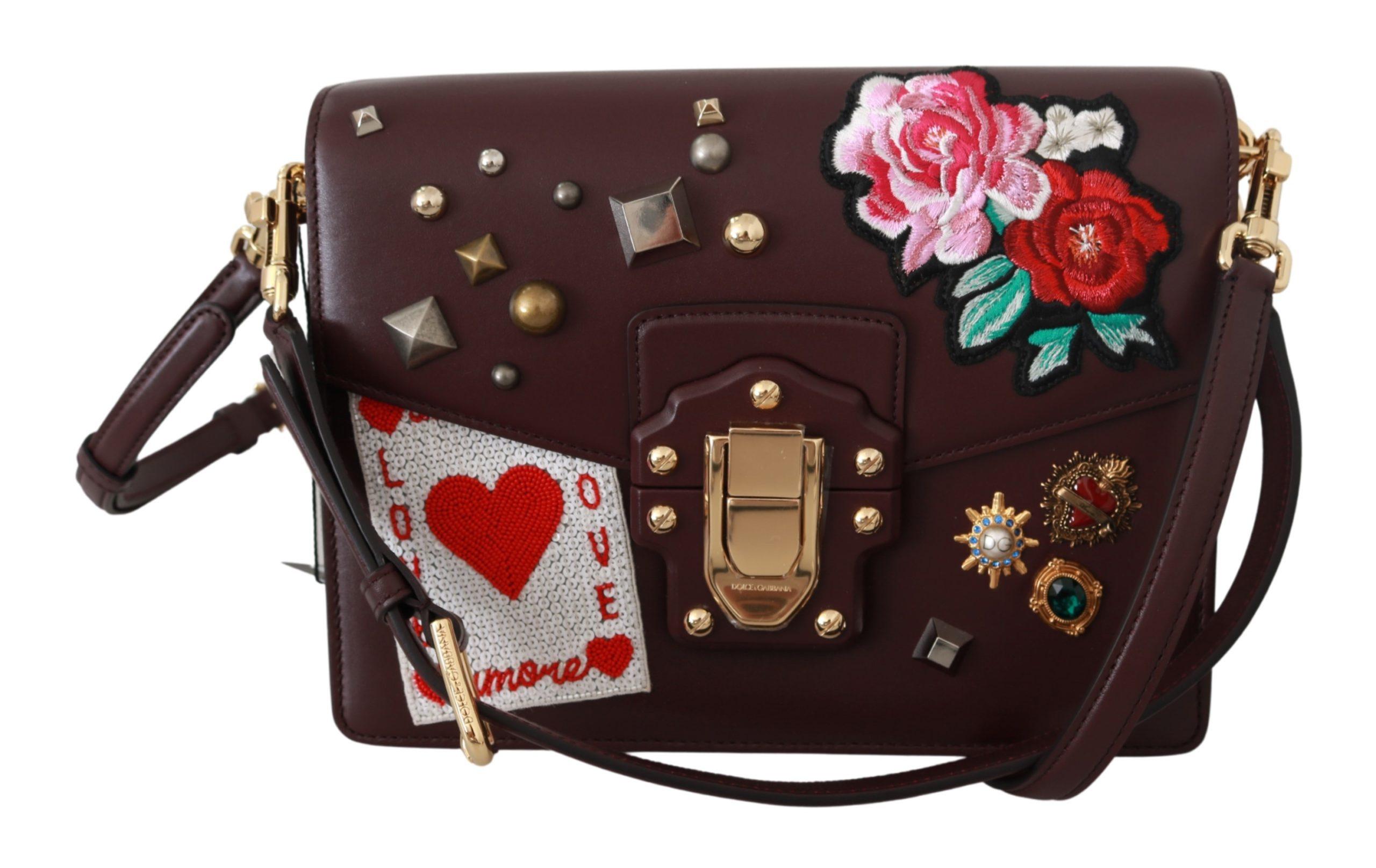 Dolce & Gabbana Women's LUCIA Leather Shoulder Bag Black VAS9241
