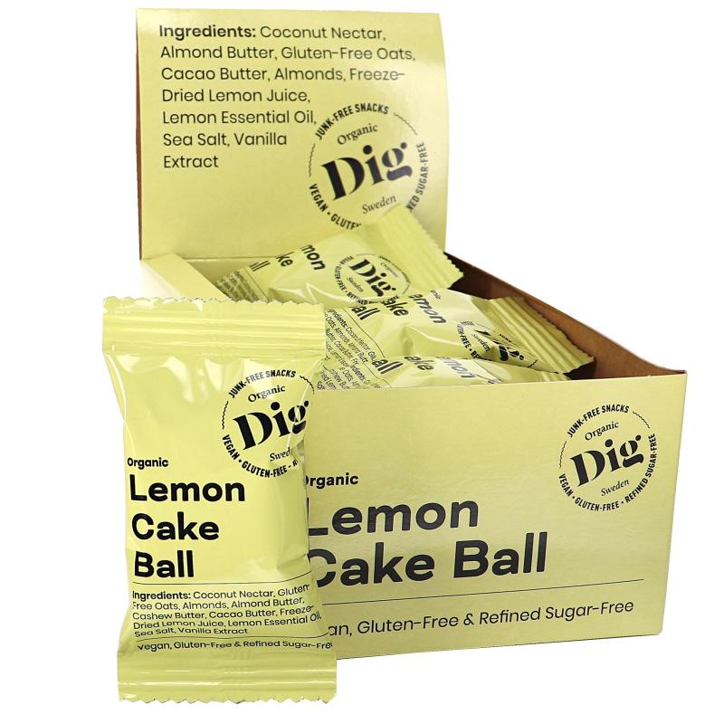 Luomu Lemon Cake Ball 16kpl - 20% alennus