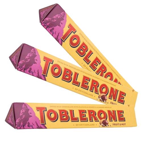 Toblerone Fruit Nut 100g x 3 st