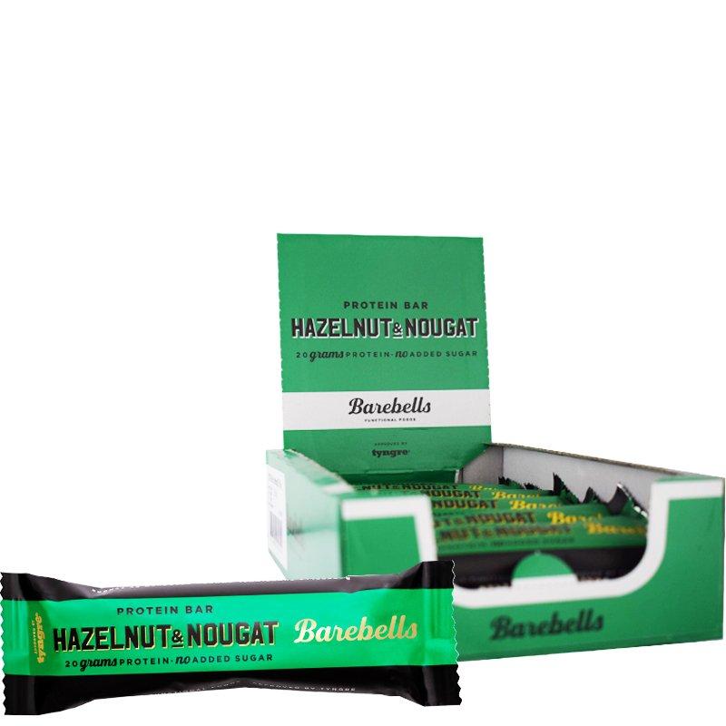 Proteiinipatukat Hazelnut & Nougat 12kpl - 38% alennus