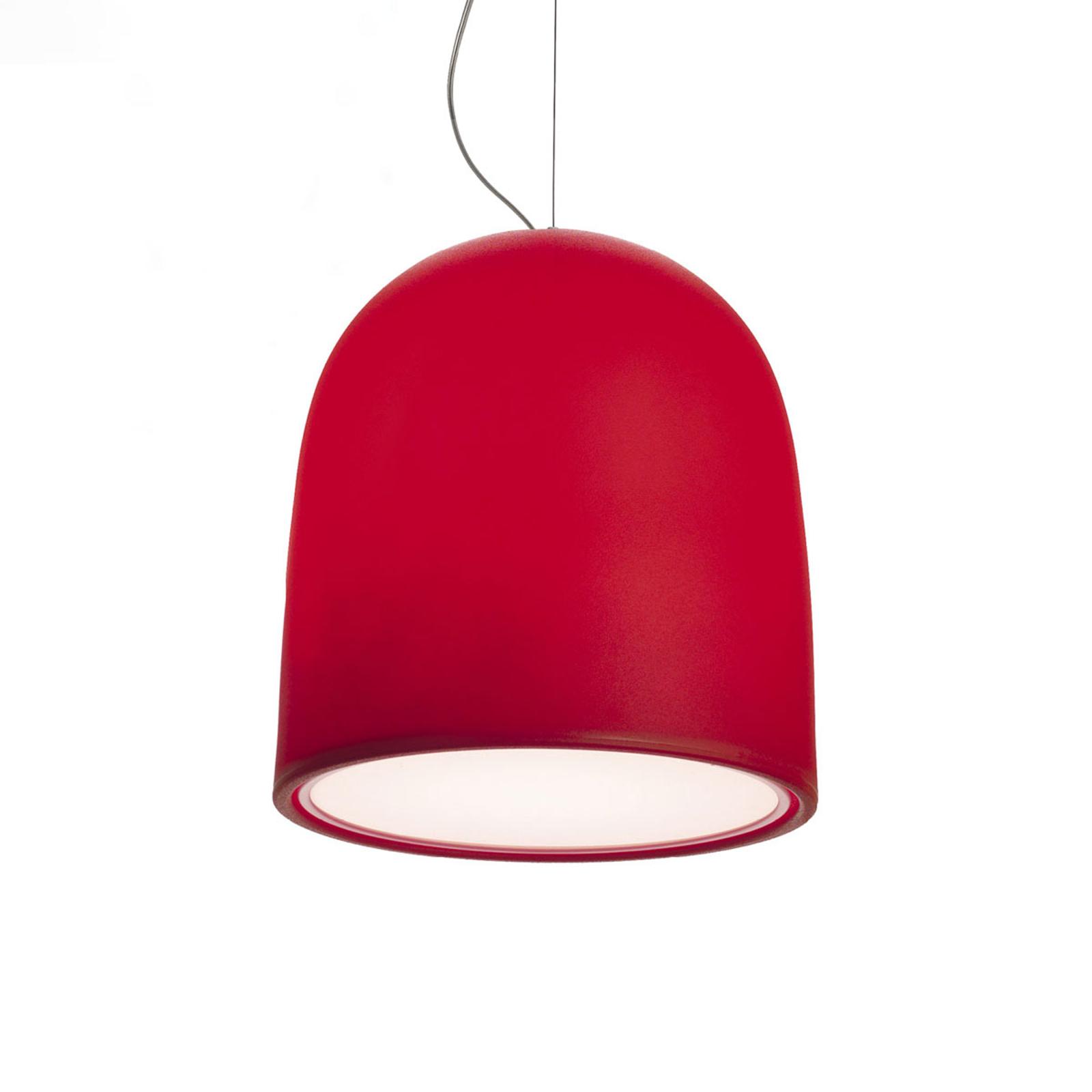 Modo Luce Campanone riippuvalo, Ø 33 cm, punainen