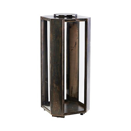 Lyslykt Baazi Antikk Brun Jern / Glass 48,5 cm