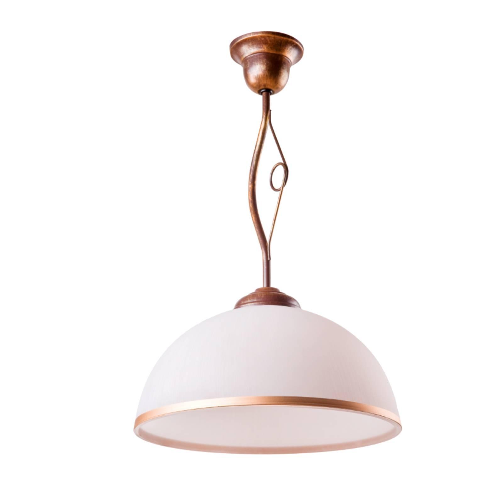 Riippuvalo Roma, valkoinen ja ruskea, 1-lamppuinen