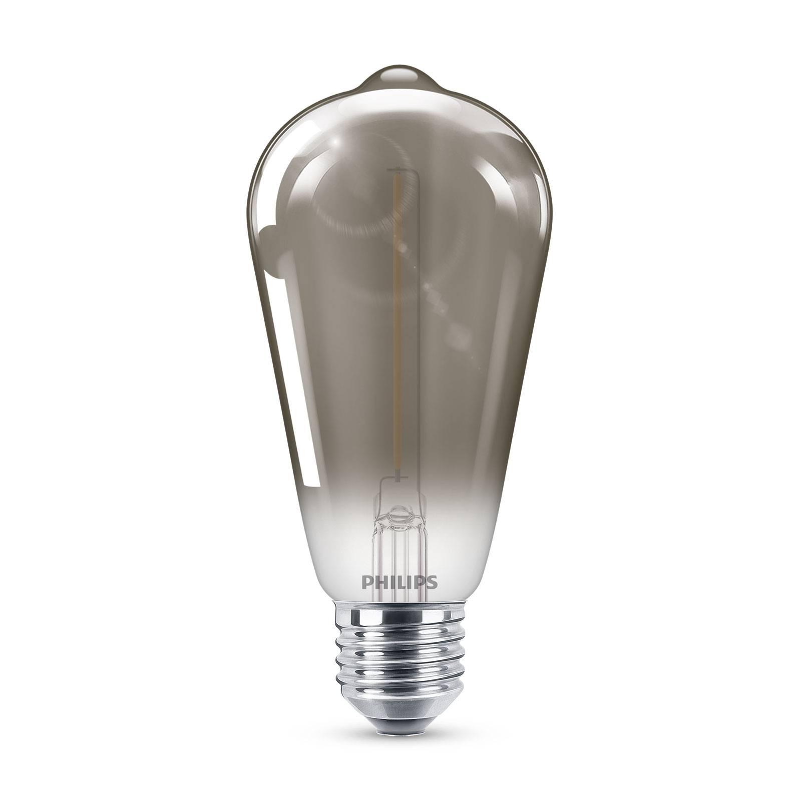 Philips Classic LED-lamppu smoky E27 ST64 2,3W