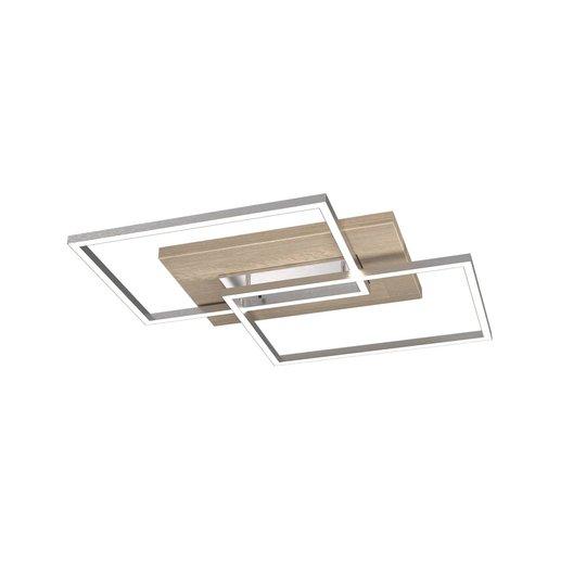 LED-taklampe Panama S, eik forkalket