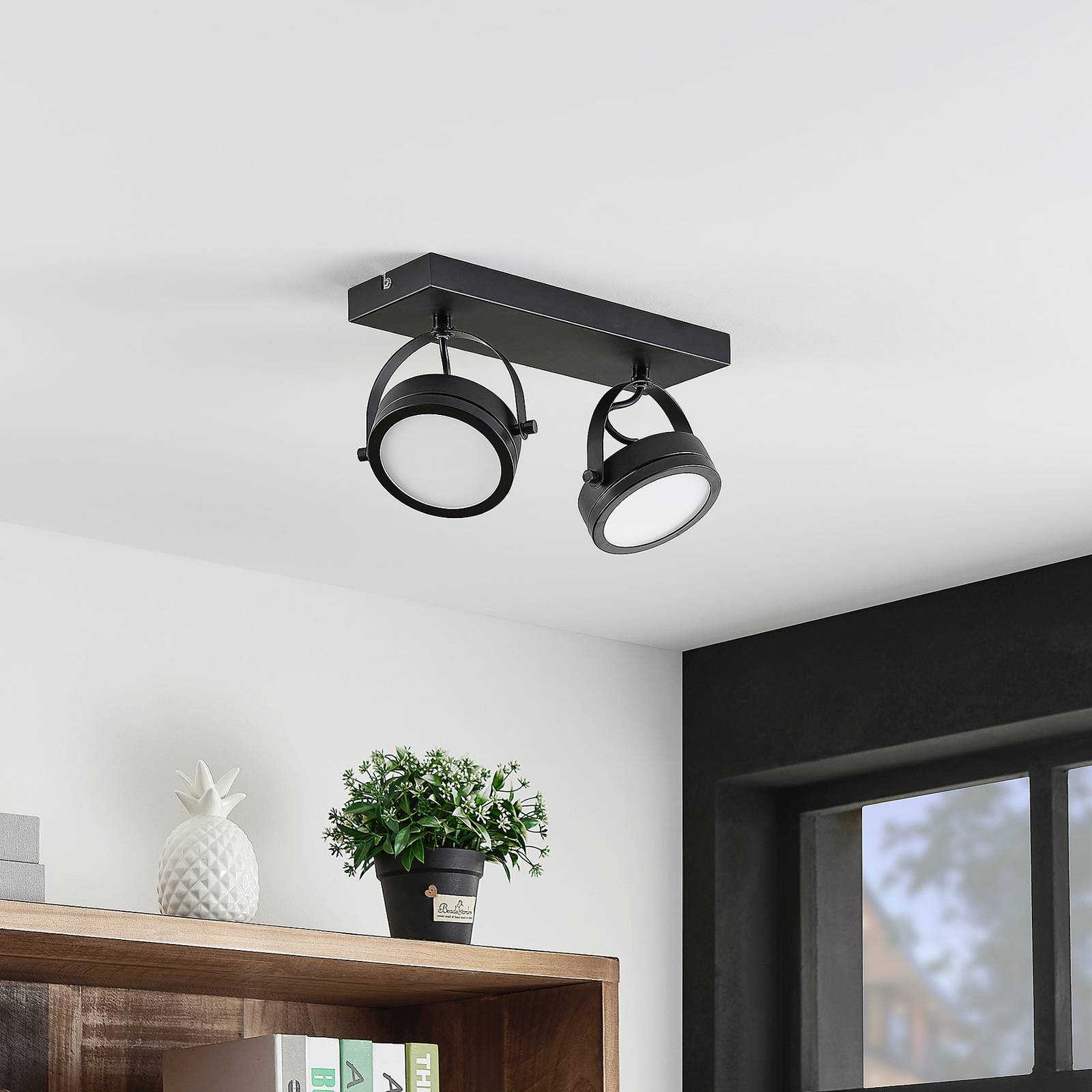 Lindby Omila -LED-kattokohdevalo, 2-lamppuinen