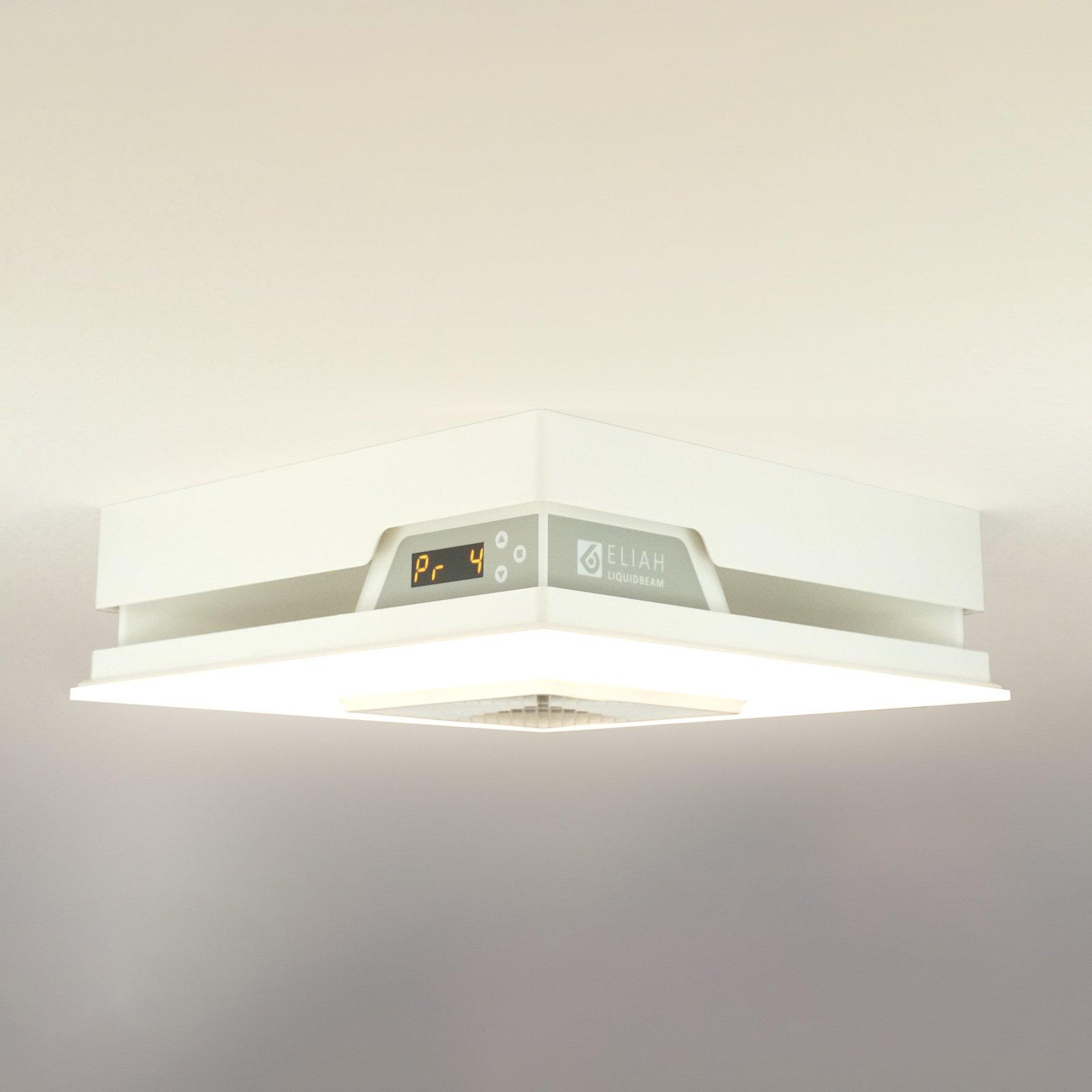 LED-taklampe Eliah med innebygd varmeelement
