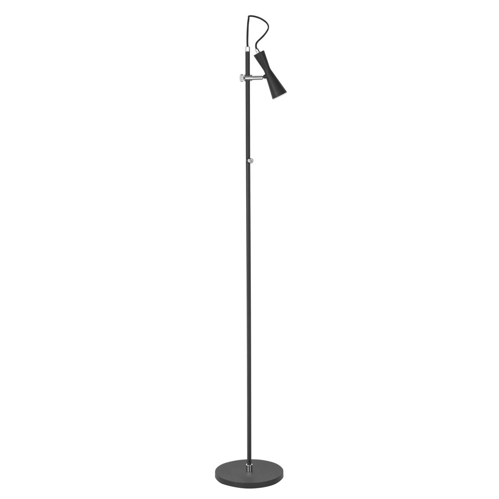 Tyylikäs LED-lattiavalaisin Move, musta