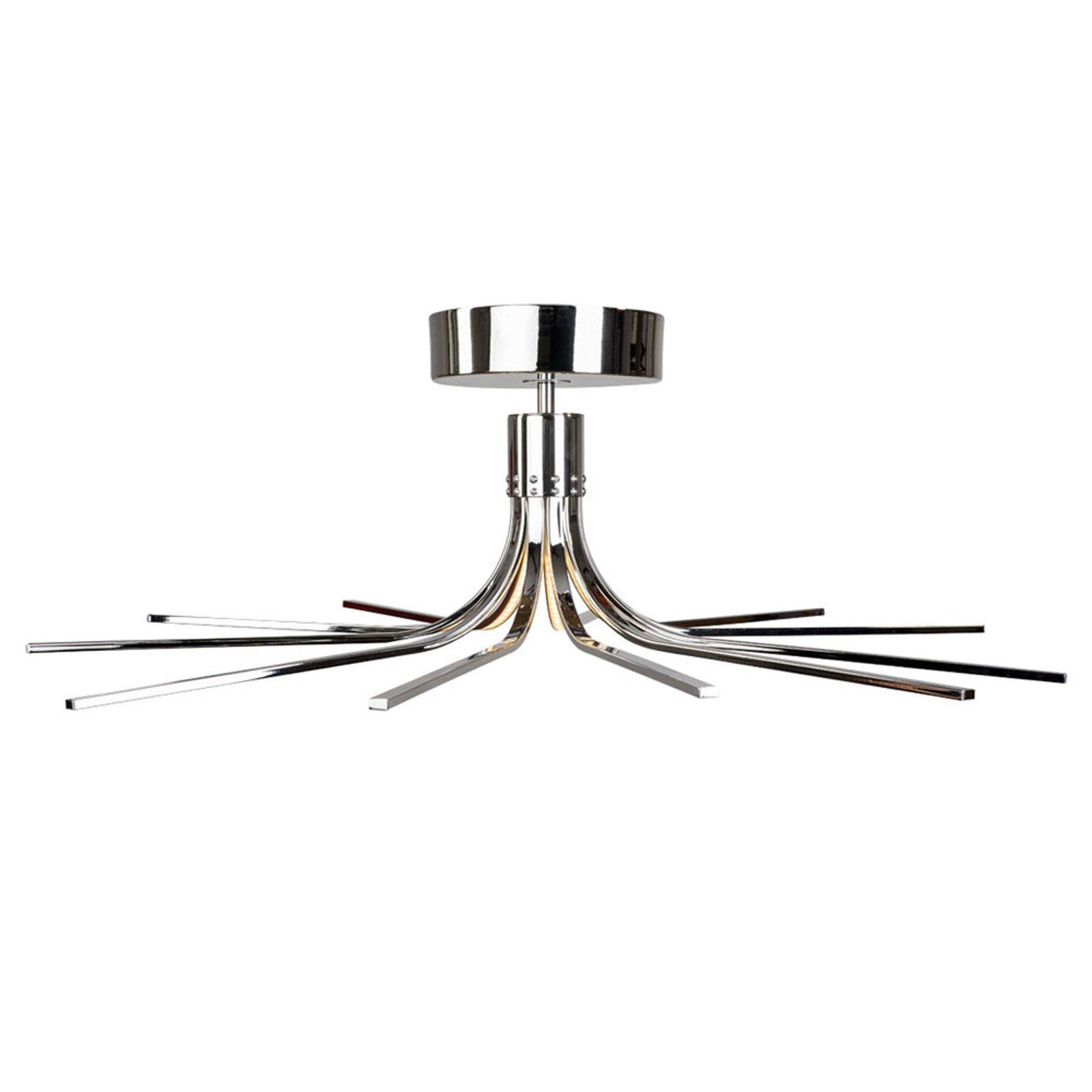 Torino LED-taklampe krom Ø 78 cm