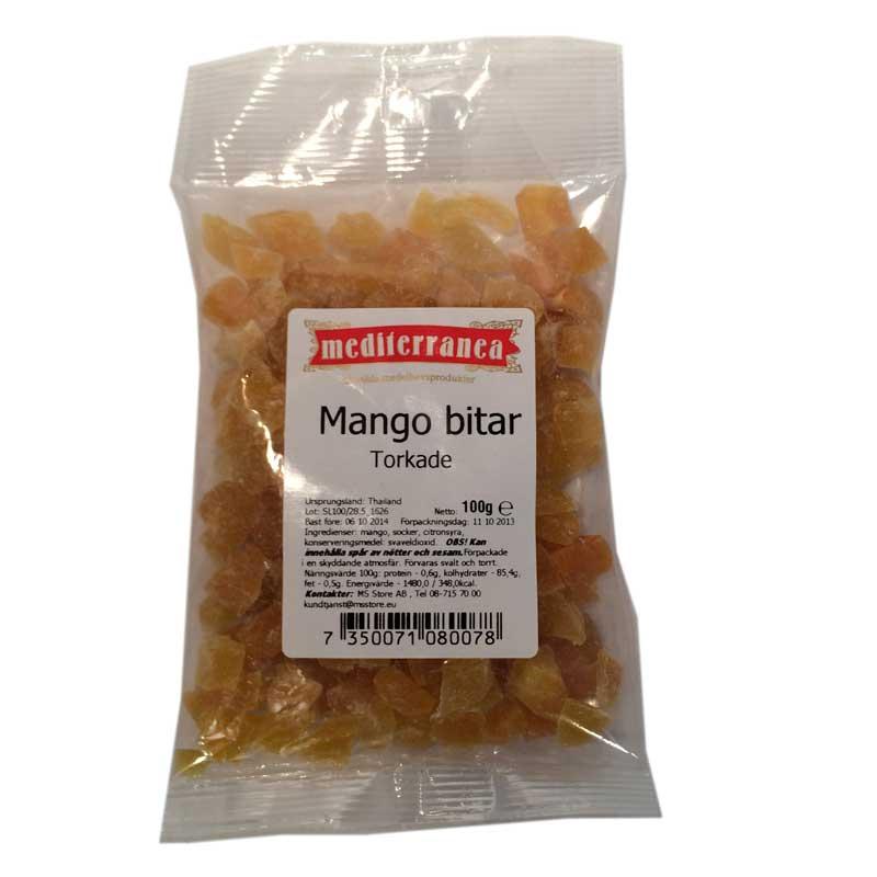 Mangobitar torkade 100g - 75% rabatt