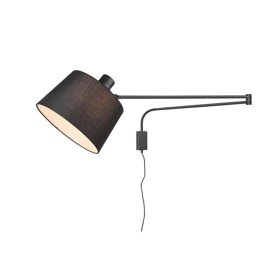 Vegglampe Baldo med kabel + plugg, svart