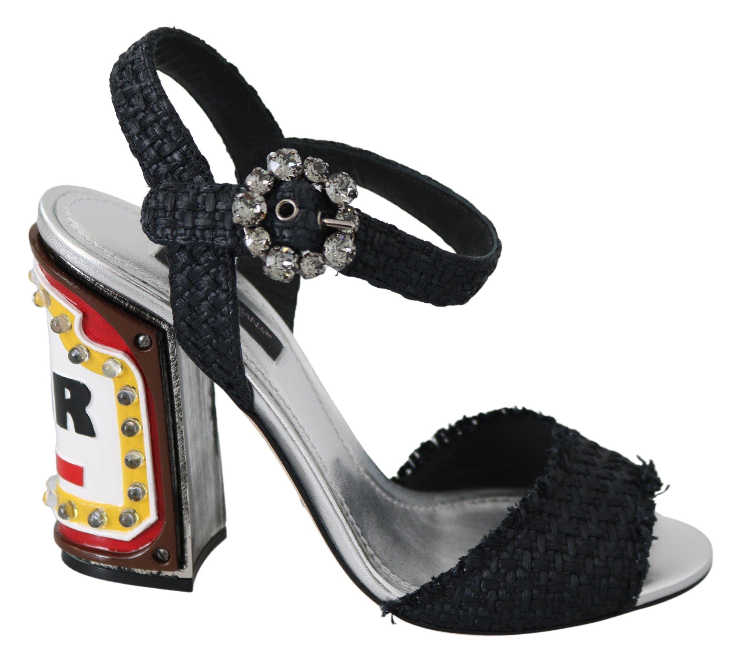 Dolce & Gabbana Women's Crystals LED LIGHTS Sandals Black LA7644-36 - EU36/US5.5