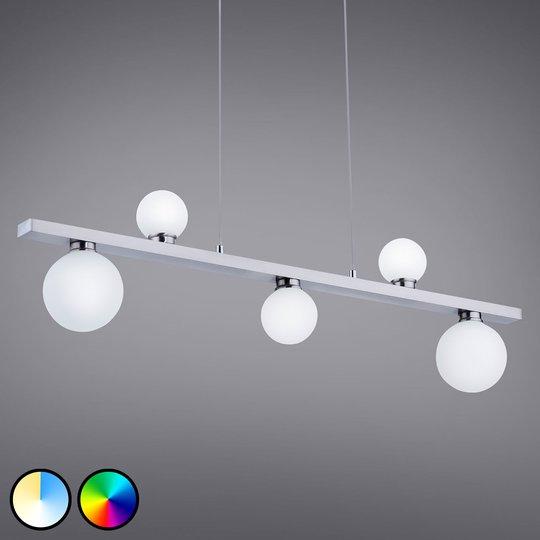 Trio WiZ Dicapo -LED-tankoriippuvalo, 5-lamppuinen