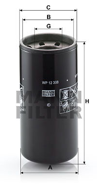 Öljynsuodatin MANN-FILTER WP 12 308