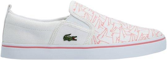 Lacoste Gazon 318 Sneaker, White/Pink 35