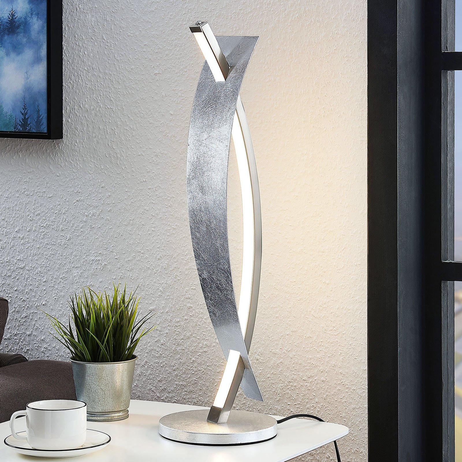 LED-bordlampe Marija i sølv