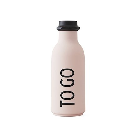 Design Letters Vannflaske «To Go» Rosa