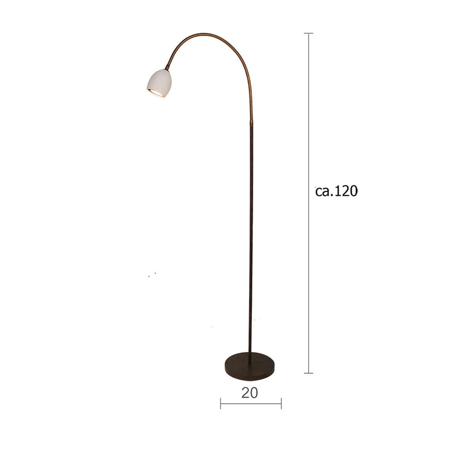 Menzel Provence matt -lattiavalo, 1-lamppuinen