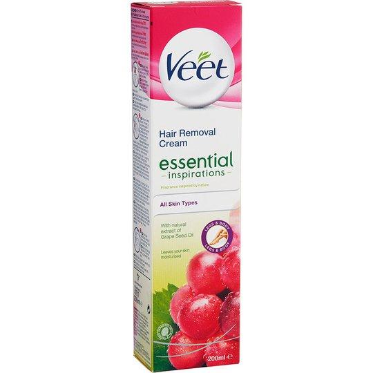 Veet Essential Inspirations Hair Removal Cream, 200 ml Veet Vahat & Geelit