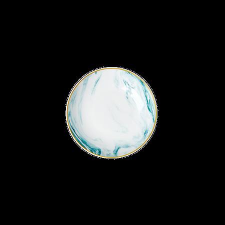 Marble print Dippskål 12 cm Porselen Grønn