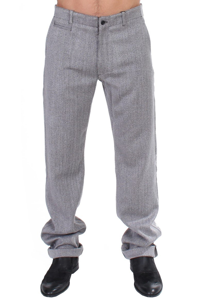 GF Ferre Men's Stretch Regular Straight Fit Trouser Gray SIG11039 - IT48 | M