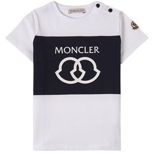 Moncler Maglia Logo T-shirt Vit 6-9 mån