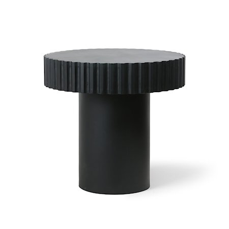 Pillar Sofabord Rundt Black