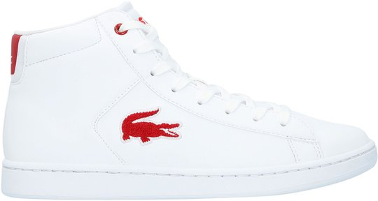 Lacoste Carnaby Evo Mid 3181 Sneaker, White/Red 34,5