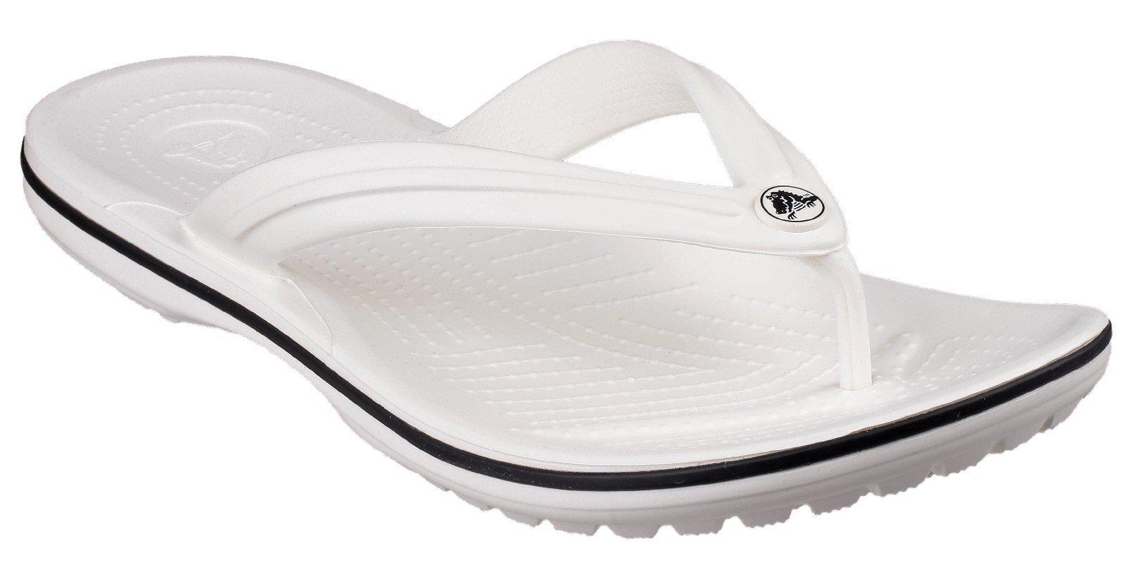 Crocs Unisex Crocband Flip Flops Various Colours 21067 - White 3