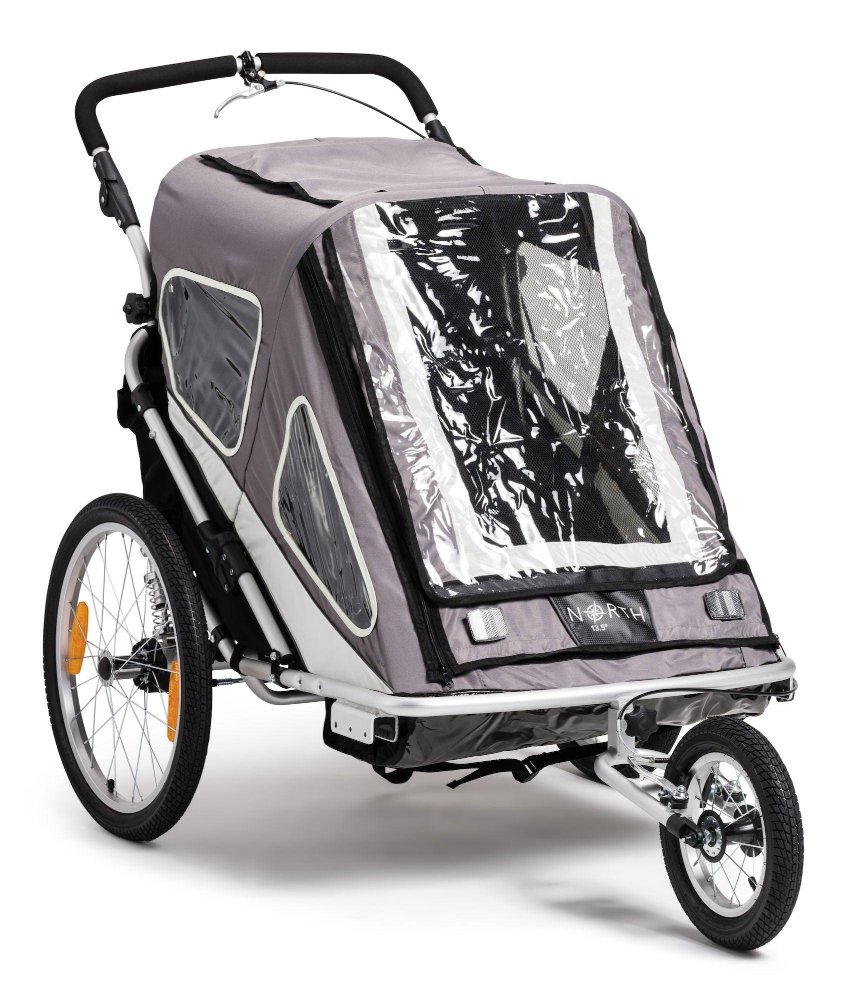 North 13.5 Speeder 2 Cykelvagn, Grey