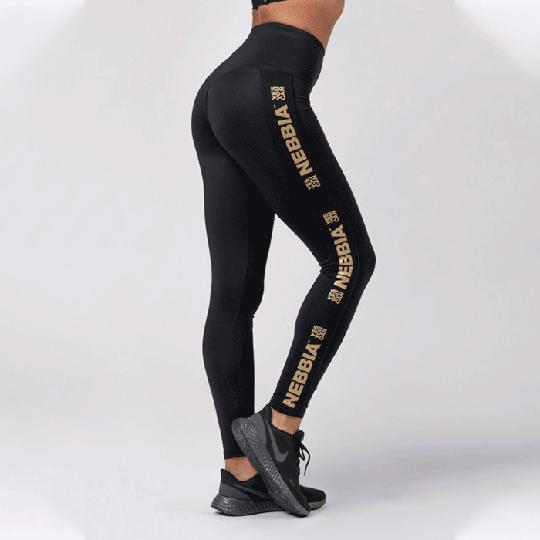 Nebbia Classic Gold Leggings, Black