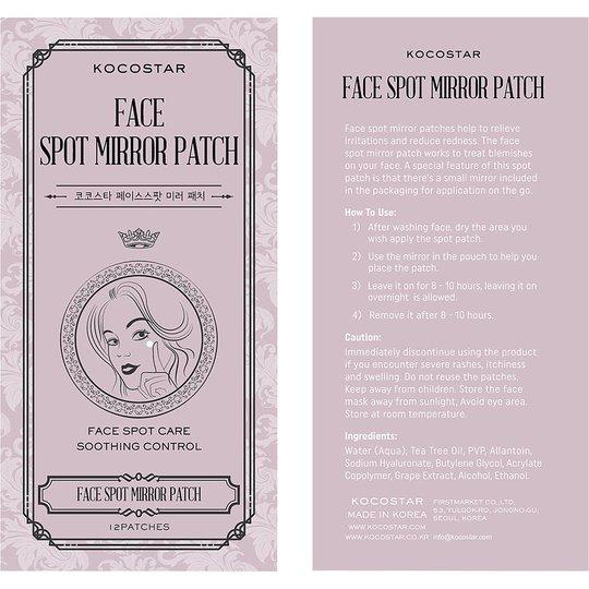 KOCOSTAR Face Spot Mirror Patch, Kocostar Kasvonaamio
