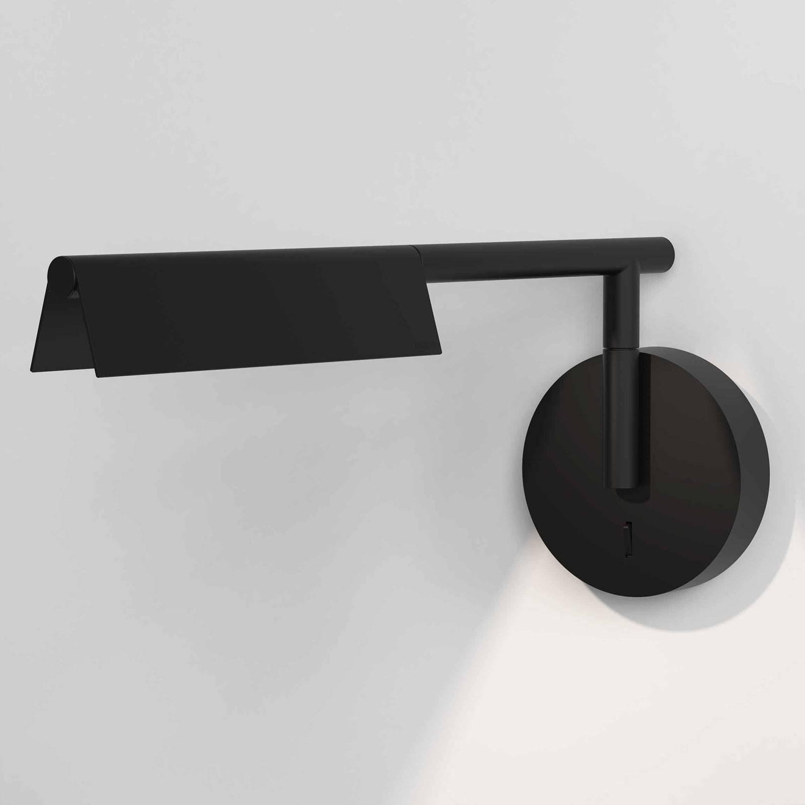 Astro Fold -LED-seinävalaisin katkaisijalla, musta