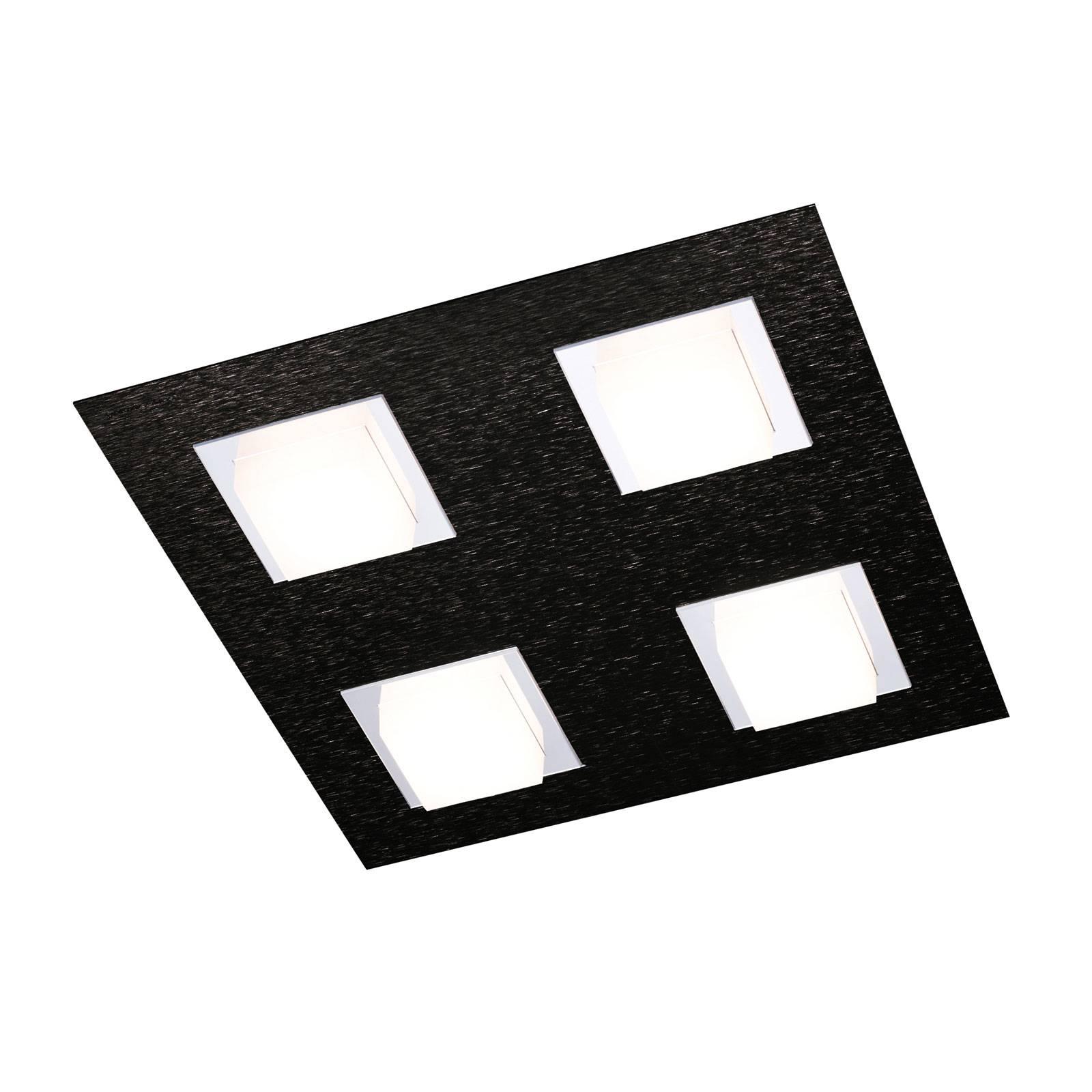 GROSSMANN Basic -kattovalaisin 4-lamppuinen musta
