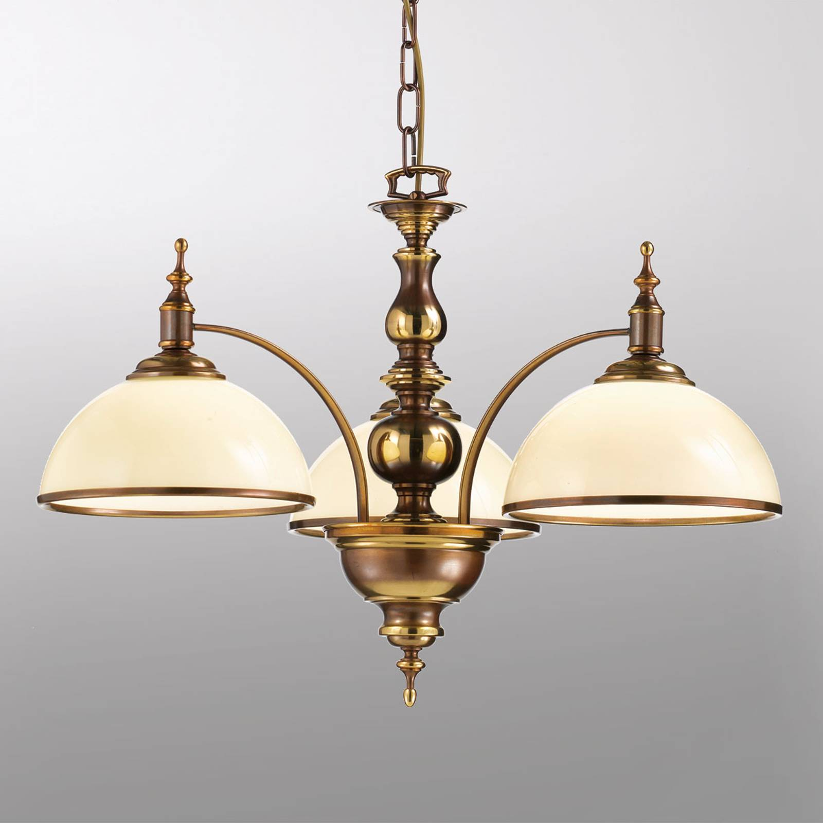 Antiikkityylinen riippuvalo Corola, 3-lamppuinen