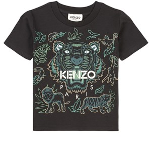 Kenzo Tiger T-shirt Svart 2 år
