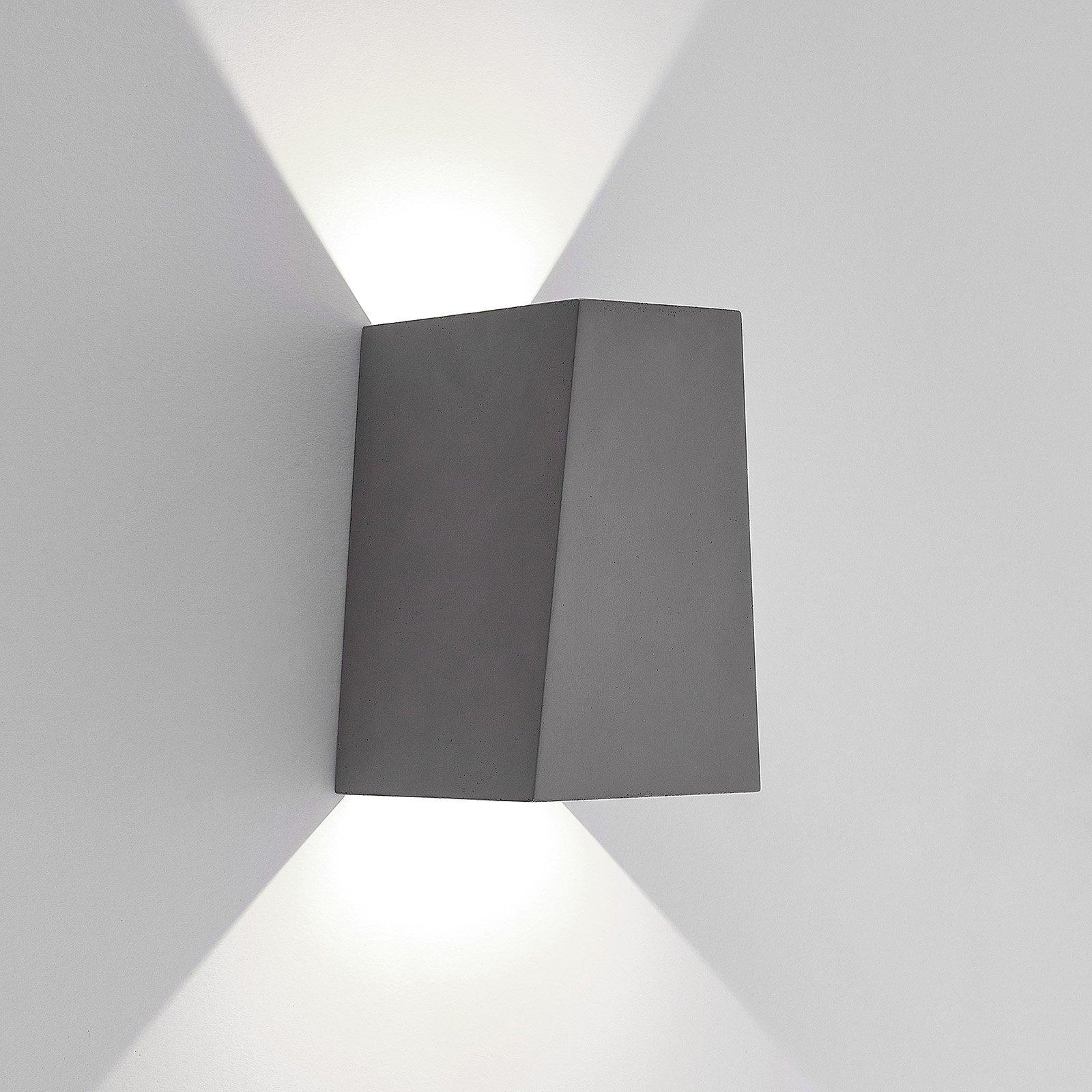 Lucande utendørs LED-vegglampe Aksel, betong