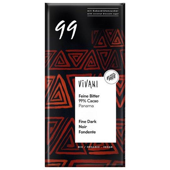 Vivani Ekologisk Mörk Choklad Panama 99%, 80 g