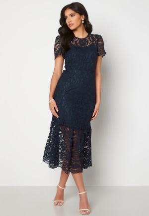 Happy Holly Taylor occasion lace dress Dark blue 34