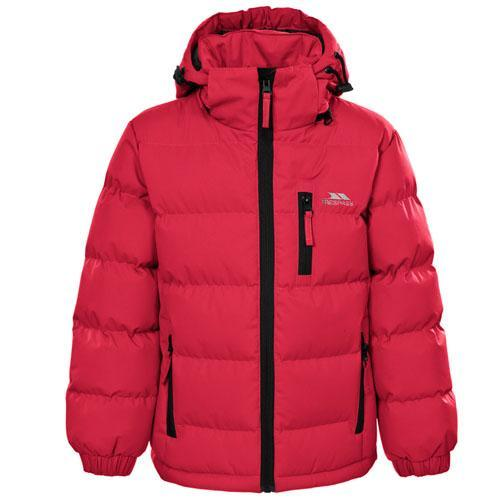 Trespass Kid's Boy Jacket Various Colours Tuff - Red 3 to 4 Years