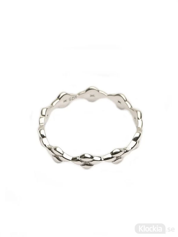 Syster P Ring Therese Shine Flower Band Silver 16.5mm RS1174-6
