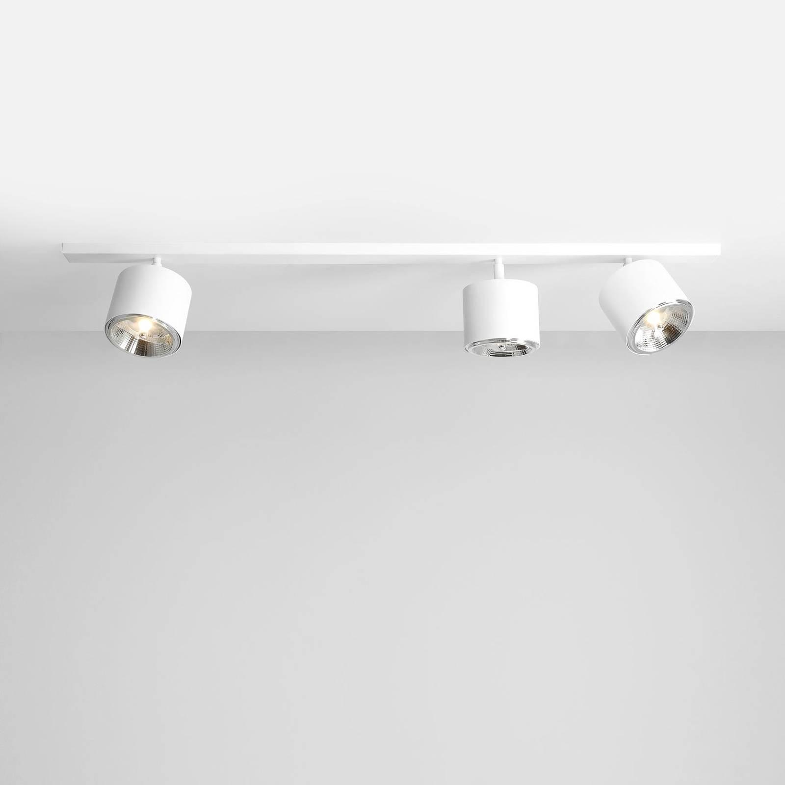 Kattokohdevalo Bot, valkoinen, 3-lamppuinen