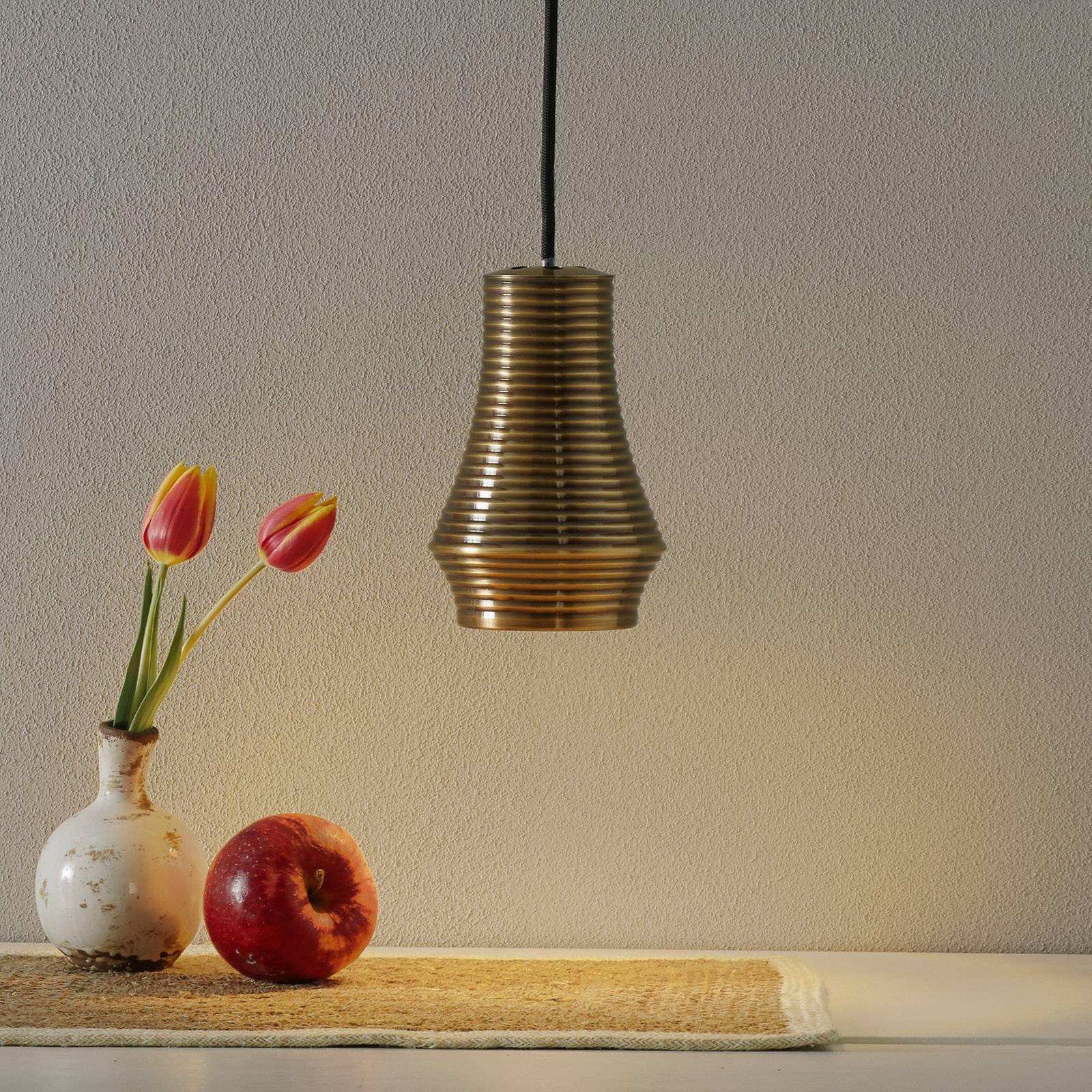 Bover Tibeta 01 - LED-hengelampe, antikkmessing