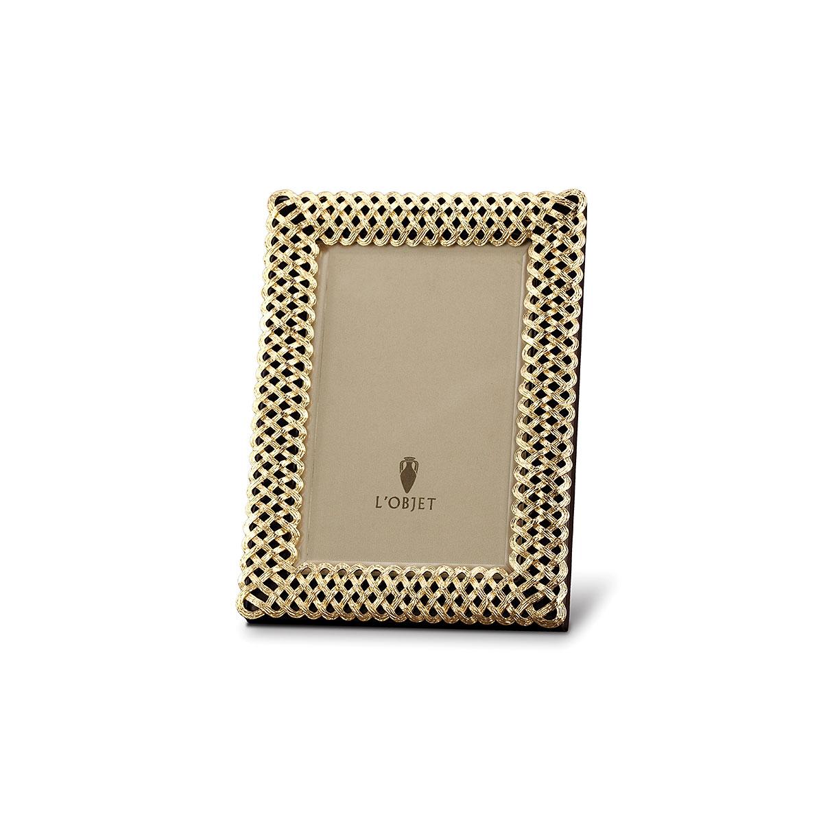 L'Objet I Braid Frame Small Gold
