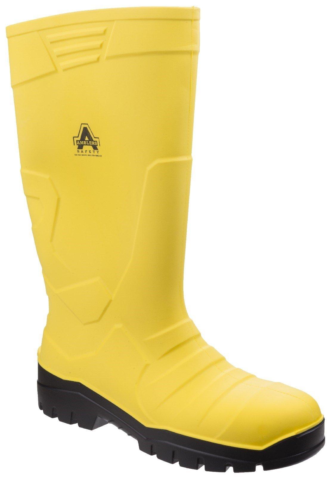 Amblers Unisex Safety Full Wellington Boots Yellow 27040 - Yellow 3