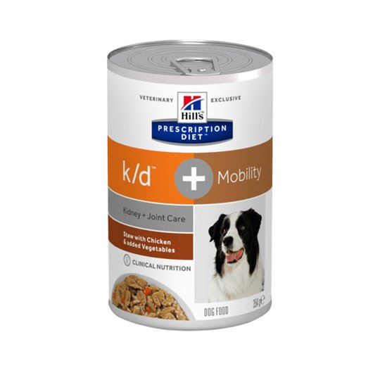Hill's Prescription Diet Canine k/d + Mobility Kidney + Joint Care Stew Chicken & Vegetables 354 g
